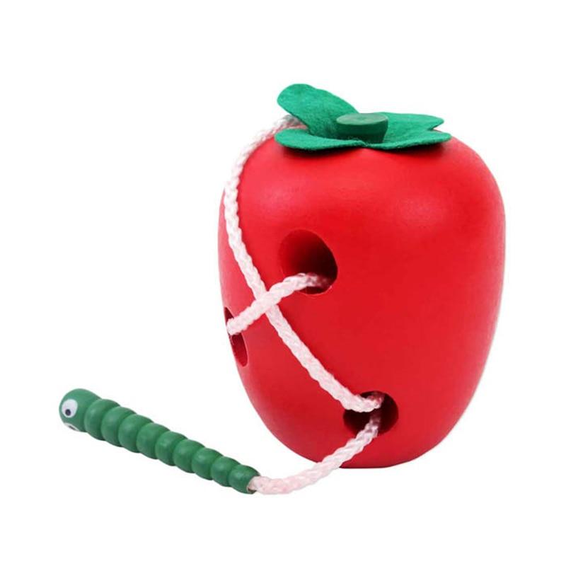 Фирменная Новинка древесины яблони был съеден насекомых дополненной реальности игрушки Игрушки-приколы Juguete Игрушки для маленьких детей д...
