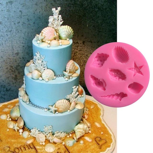 Schones Meer Shell Starfish Conch Form Kuchen Schokolade Silikonform