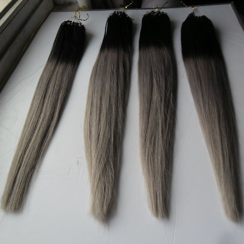 Micro ring hair extensions for sale gallery hair extension silver grey hair extensions micro ombre gray hair extensions micro silver grey hair extensions micro ombre pmusecretfo Image collections