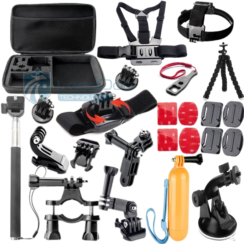 product Hot Go pro Accessories Monopod Tripod Float Bobber Chest head strap For Gopro Hero 4 3 Xiaomi yi SJ4000 Camera Big Tool box GS45