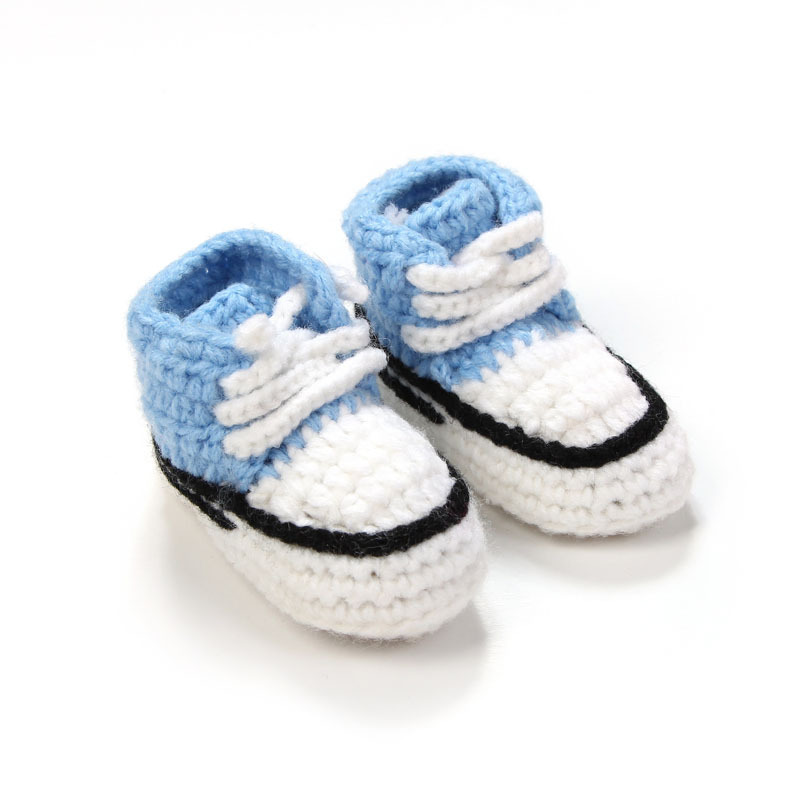 Multicolor-Knitted-Baby-Crib-Shoes-Handmade-Infant-Crochet-Booties-Lace-up-Newborn-Shoes-10cm-3