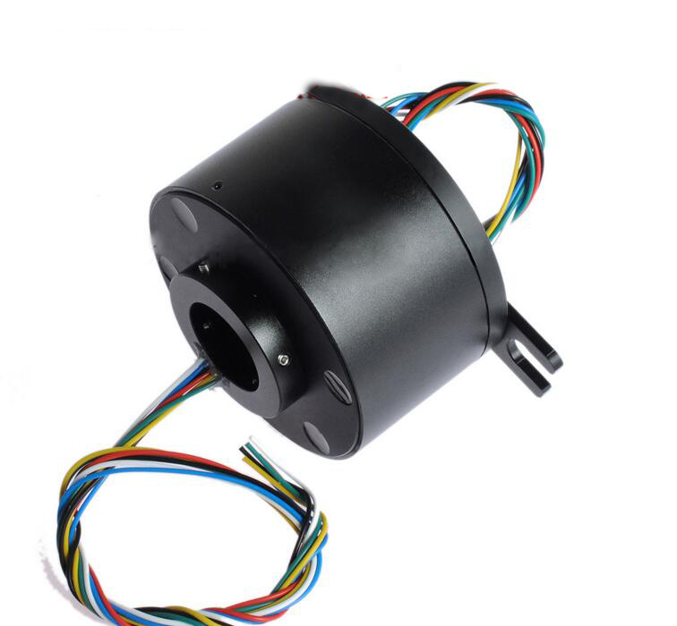 Hollow Shaft Slip Ring Aluminum Alloy Case Large Current 12 Channel Slipring Hole Dia.12.77mm m slipring pass hole slip ring hole diameter 5mm 2 4 6 12 channel 2a 7mm 4 6 channel electric slip ring hollow shaft slip ring