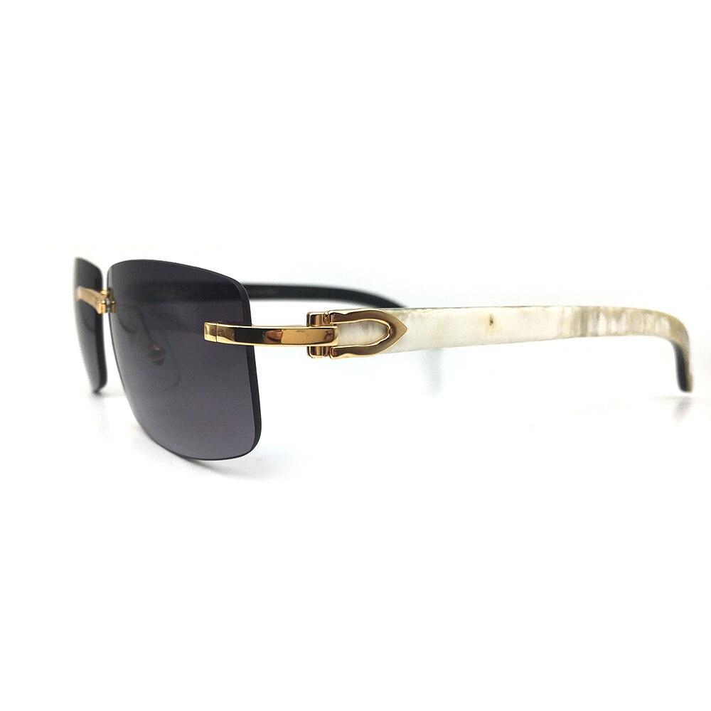 Marque de luxe Designer lunettes de soleil pour hommes Carter verre bois cadre blanc noir Buffalo Horm lunettes de soleil rose nuances lunettes en bois