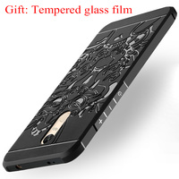 Slim Soft Tpu Phone Cases For Xiaomi Redmi Note 4x Note 4 3D Relief Dragon Black