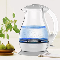1800W High Power Large Capacity 1.7L Household Electric Water Kettle Fast Boiling Water Pot High Boron Glass Transparent Kettle