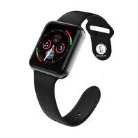 Smart Watch Series 4 for Apple Smart Wristband Fitness Tracker Passometer Heart Rate Sensor Sport Smart Watches (Red Button)