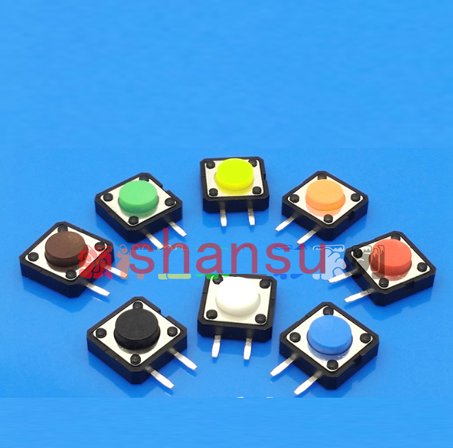 7 цветов, бесплатная доставка, сенсорный выключатель 12*12*9 мм, сенсорный выключатель света 12x12x9 мм, боковой двухфутовый микропереключатель
