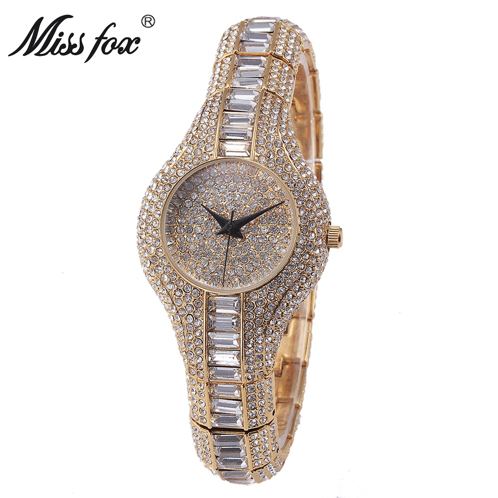Miss Fox Austria Crystal Women Quartz Watches Luxury Ladies Gold Dress Bracelet Women's Watch For Female Clock Montre Femme 2017 цена