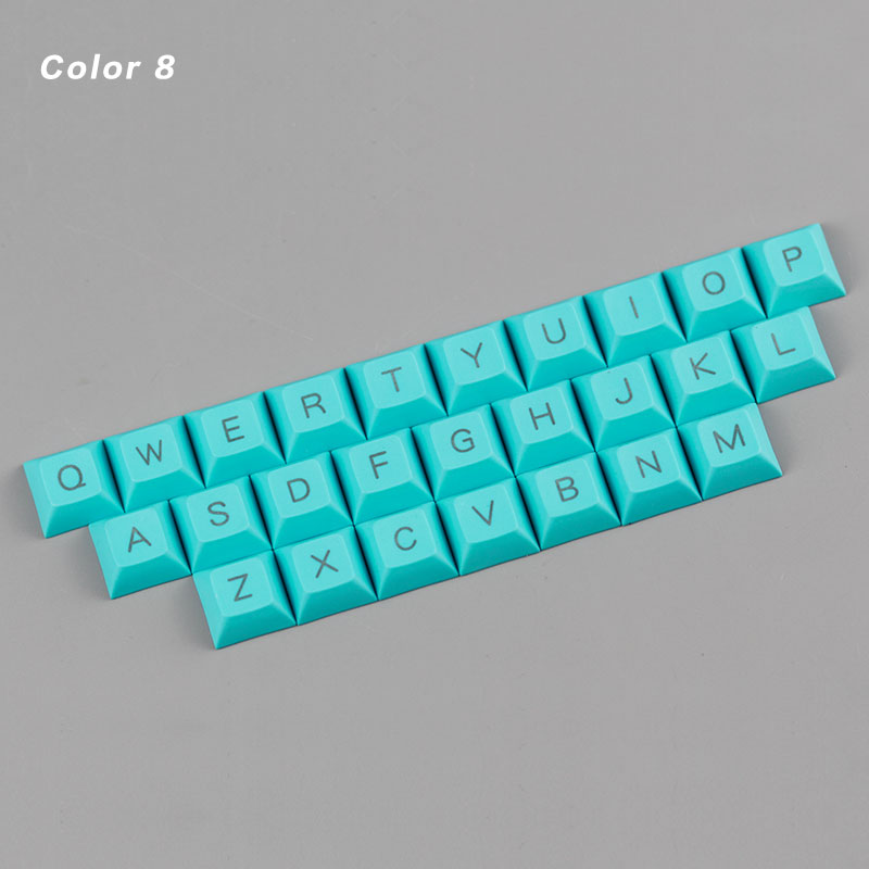 kbdfans new arrival dsa keycap top printed keycaps 26 keys mechanical keyboard