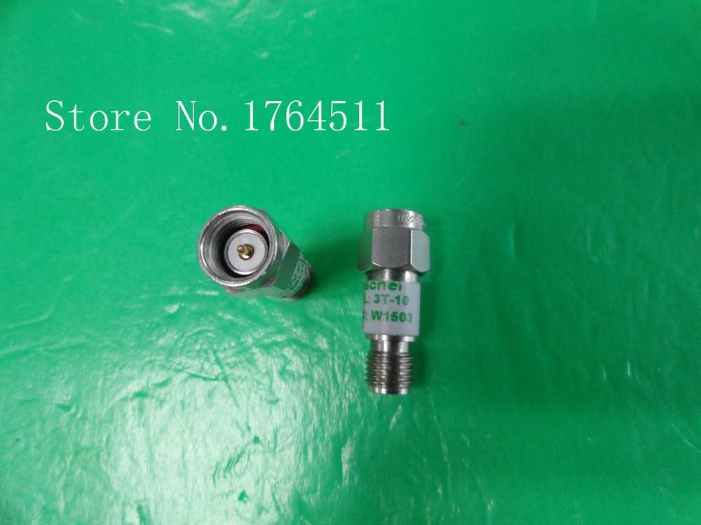 [BELLA] WEINSCHEL 3T-10 DC-12.4GHz Att:10dB P:2W SMA Coaxial Fixed Attenuator  --3PCS/LOT