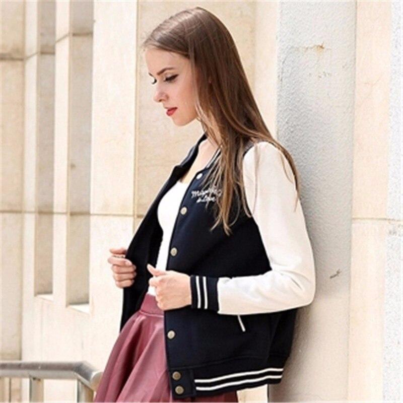 93616d9196a 2018 Autumn Winter Bomber Jacket Women Cardigans Coat Chaquetas Mujer  Casaco Feminino Jaqueta Feminina Baseball Veste Femme Tops-in Basic Jackets  from ...