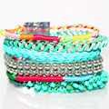 Free Shipping Brazilian Bracelet Vintage Multilayer Fashion Statement Bead Leather Bracelets For Women Party Jewelry HY0014