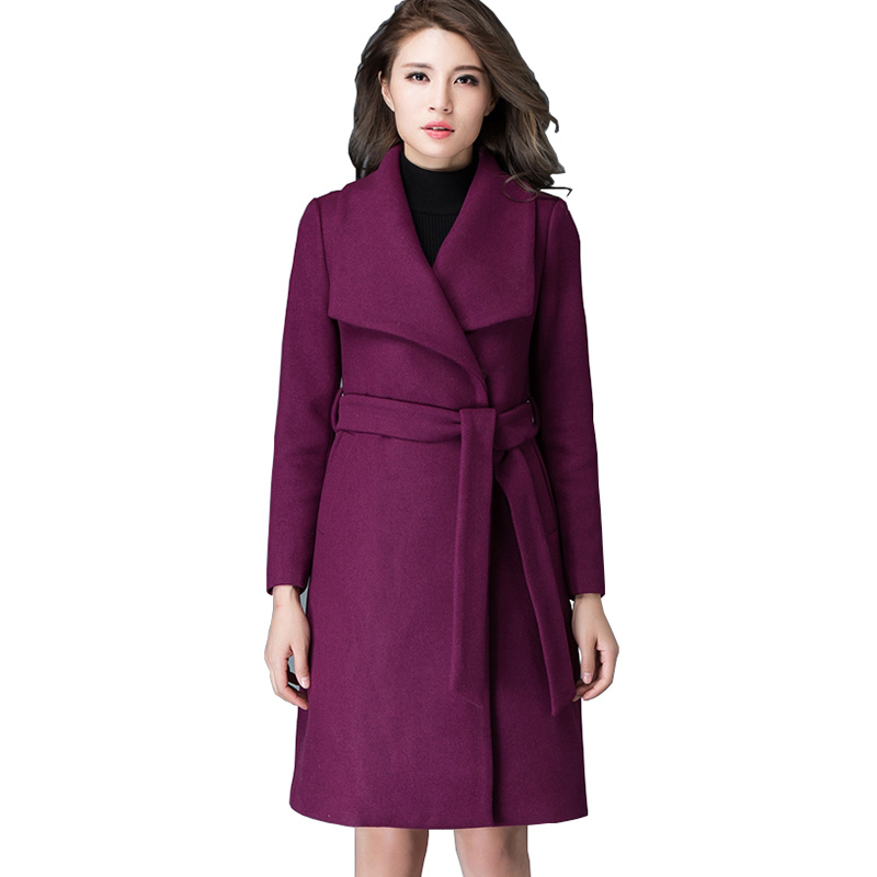 Purple Wool Coat Promotion-Shop for Promotional Purple Wool Coat ...