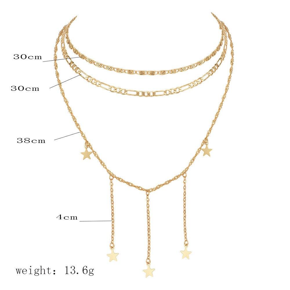 Women Fashion Gold Metal Chains Band Narrow Choker Necklace Black Skinny Fabric