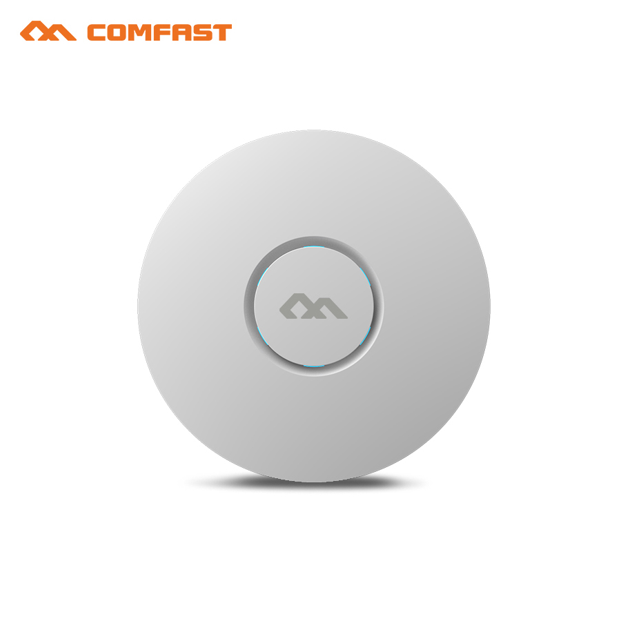 COMFAST CF-E320V2 indoor wireless router 300M Ceiling AP openwrt WiFi Access Point AP 6dbi antenna 48vpoe wi fi signal amplifier 2pcs comfast 1200mbps wireless ceiling ap indoor ap 5 8ghz duacl band 802 11ac openwrt wifi signal amplifier router for office