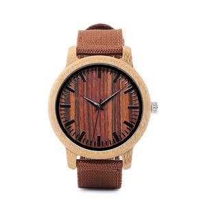 Image 2 - בובו ציפור WD10 Mens יוקרה למעלה מותג עיצוב שעון גברים עץ שעוני יד מעצב שעונים יוקרה במבוק שעון אריזת מתנה מקבלים Oem