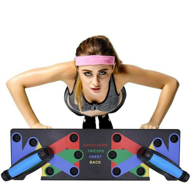 New The Ultra Push 9 in 1 System Push up Bracket Board Portable for Home Fitness
