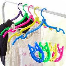 300pcs Travel Portable Cloth Hangers Plastic Foldable Cloth Hook Coat Cloth Rack Free Shipping By DHL