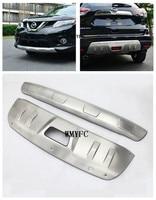 Стайлинга автомобилей алюминиевый сплав передний и задний бампер протектор гвардии защитные пластины подоконник Чехлы для мангала для Nissan