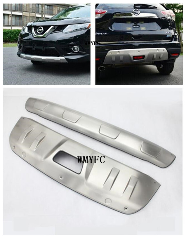 Car Styling Aluminium Alloy Front And Rear Bumper Protector Guard Skid Plate Sill Covers For Nissan X-TRAIL 2014 2015 2016