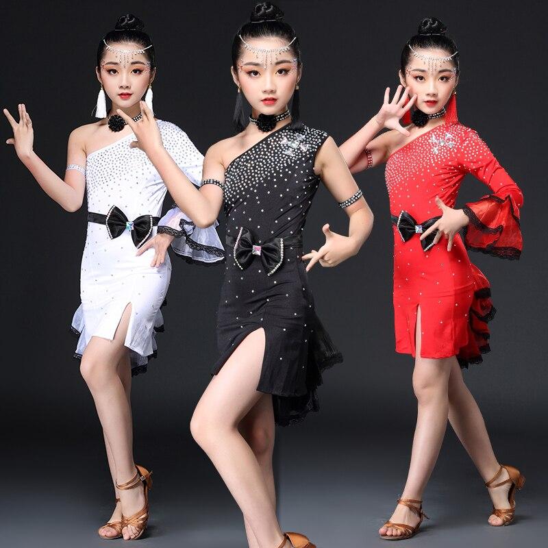 Vente spéciale Sexy robe de danse latine pour les filles enfants enfants Sequin compétition jupe latine Salsa Samba danse latine Salsa robes