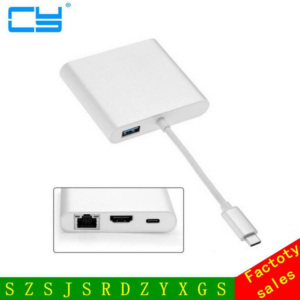 USB 3.1 Type-C USB-C to HDMI Digital AV & USB OTG & Gigabit Ethnernet & Female Charger Adapter for Laptop usb 3 1 usb c type c to hdmi digital av
