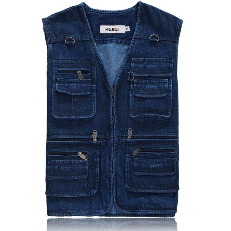 plus size casual 100 cotton mens blue jean vest jackets man denim sleeveless coat many. Black Bedroom Furniture Sets. Home Design Ideas