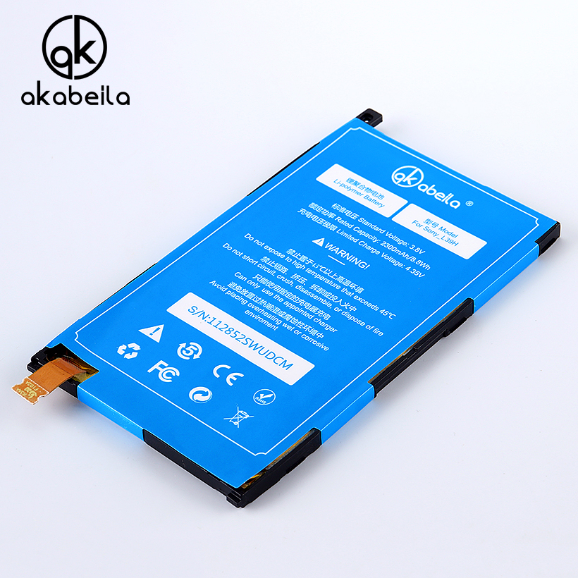 AKABEILA For Phone Battery Sony Xperia Z1 L39H C6903 C6943 LT39 C6902 09 L39U Replacement Mobile Phone Batterie Sony Z1 Bateria