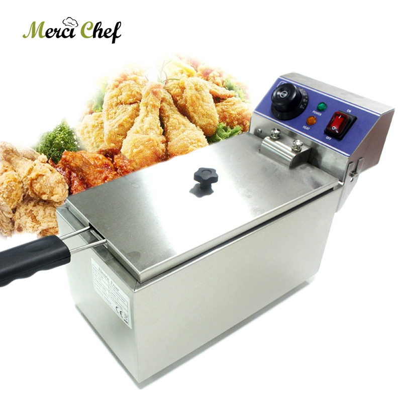 ITOP 6L Fryer CE Stainless Steel Household and Commercial Electric Deep Fryer Frying Machine Chicken French Fries Maker konka microcomputer intelligent control air fryer 2 5l smokeless electric air fryer french fries machine non stick fryer 220v eu