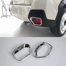 MONTFORD For Subaru XV Impreza 5-door 2017 2018 2019 Car Styling ABS Chrome Exterior Rear Fog Light Lamp Cover Frame Trims 2Pcs