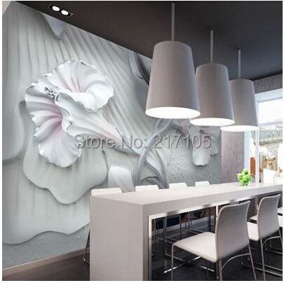 Buy custom 3d stereo brickwall anti lily for 3d wallpaper for dining room