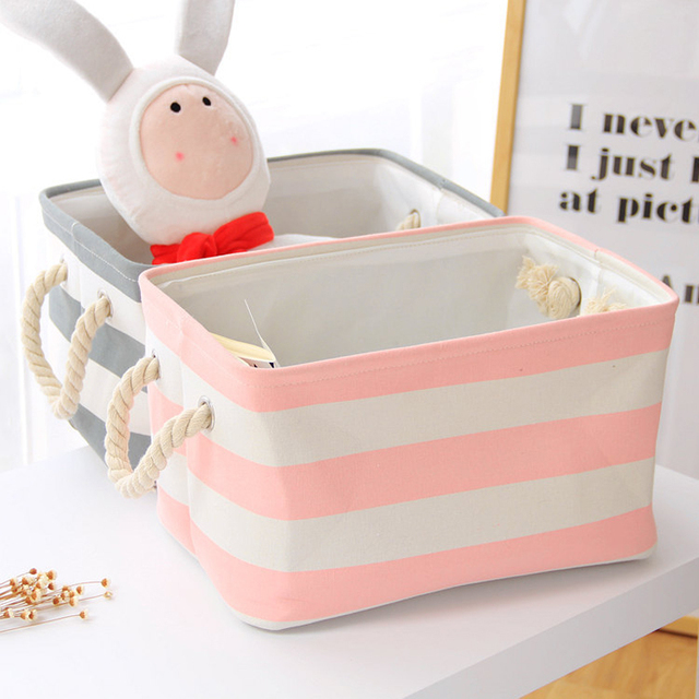 Cute Baby Toys Basket Square Laundry Basket Foldable Washing Clothes
