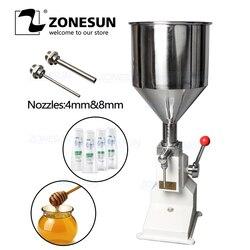 ZONESUN A50 nueva máquina de llenado Manual (5 ~ 50 ml) para máquina de llenado de Gel de salchicha pasta cosmética relleno de champú crema