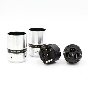 Image 3 - Hi End Audio power plug Aluminum metal Rhodium Plated EUR Euro Schuk Power Plug