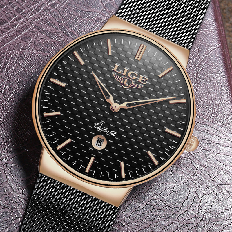 LIGE Fashion Luxury Brand Women Quartz Watch 1