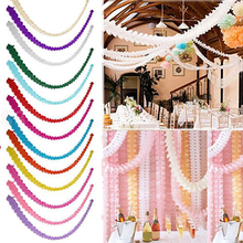3 Meters Paper Garland Bunting Banner Streamers Birthday Wedding Party Home Decoration Hanging