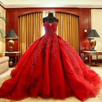 Don's Bridal Luxury Ball Gown Debutante Dresses Sleeveless Beaded Sweetheart Neck Cathedral Train Quinceanera Dress 2016