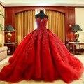Não's de Luxo de Noiva vestido de Baile vestido de Debutante Vestidos de Mangas Frisado Pescoço Namorada Catedral Trem Quinceanera Vestido 2016