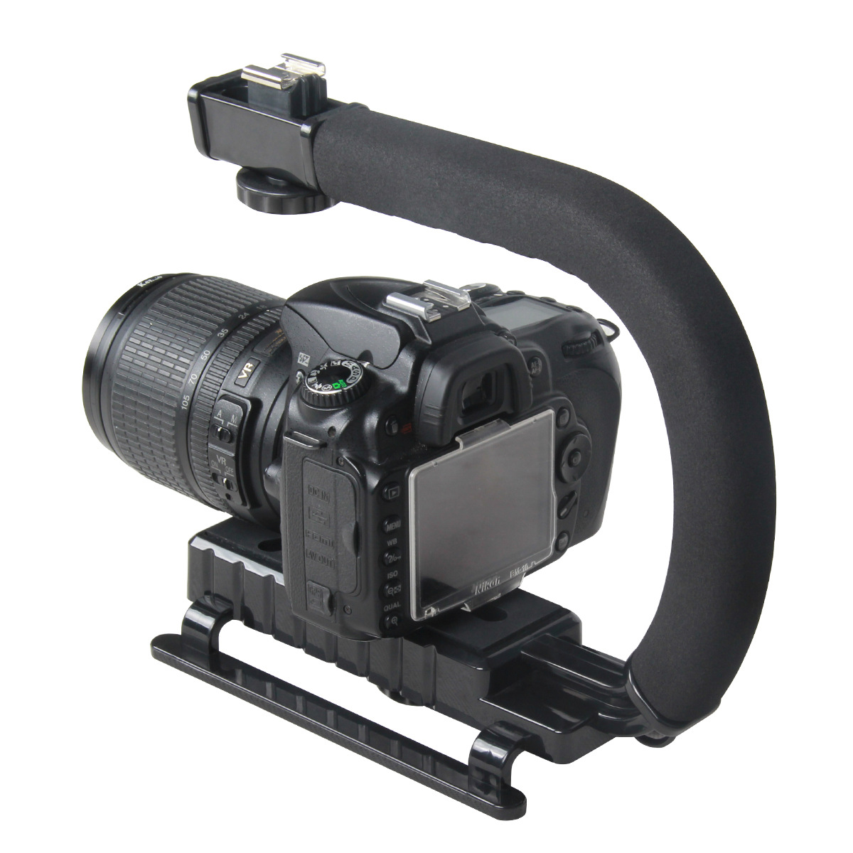 C Shaped Holder Grip Video Handheld Gimbal Stabilizer For DSLR Nikon Canon Sony Camera And Light Portable Steadicam For Gopro