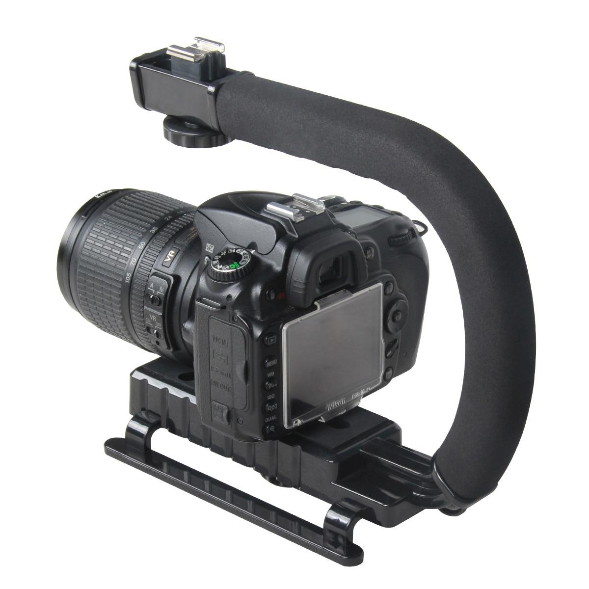 Stabilisateur de cardan de poche vidéo en forme de C pour appareil photo Nikon Canon Sony DSLR et Steadicam Portable léger pour Gopro