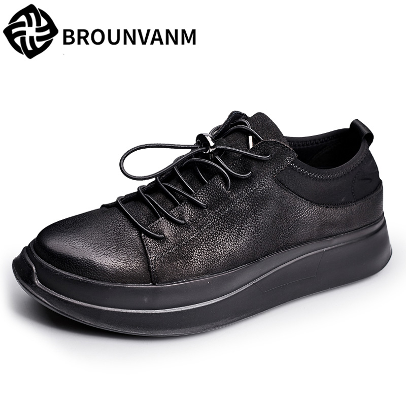 17 autumn new thick bottom shoes black men shoes nubuck leather shoes really leather casual shoes men. nt00024 5 men s casual warm nubuck cotton sneaker shoes black 44 pair