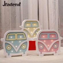 Jiaderui мультфильм автомобиль светодиодный свет ночи Детские ночники Детские подарки, настенные настольная лампа Спальня Гостиная домашние украшение лампы