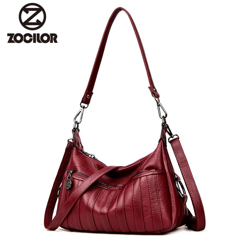 2018 women bag High Quality Leather PU Womens Handbags Fashion stripe Women Shoulder Crossbody Bags women messenger bag