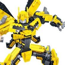 GUDI 2-in-1 Transformation Serie Building Blocks Set Robot Car Truck Model Deformation Toy for Boy Compatible Legoings Kids