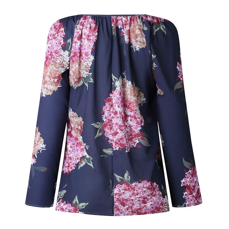Autumn Casual Shirt Women Clothes Streetwear Fashion Print Drawstring V-Neck Long Sleeve Sexy Ladies Tops Vetement Femme 2018 (21)