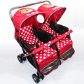 New Design Twins Baby Stroller High Landscape Shockproof Safety Baby Pram Can Sit Can Lie Portable Folding Easy Baby Trolley