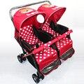 Nuevo Diseño Gemelos Bebé Cochecito Paisaje de Alta Seguridad Cochecito de Bebé Puede Sentarse Puede Mentir A Prueba de Golpes Portátil Plegable Fácil Bebé Carro