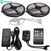 10M 60led M Waterproof RGB 5050 LED Strip SMD Music Controller 12V6A Power Adapter Flexible Led