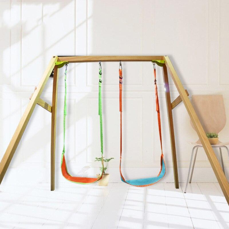 Balançoire suspendue enfants intérieur/extérieur réglable hamac chaise siège enfants Camping jouet (W0