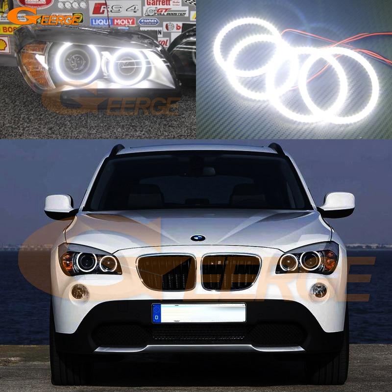 For BMW X1 E84 2010 2011 2012 2013 2014 2015 Xenon headlight Excellent Ultra bright illumination smd led Angel Eyes kit